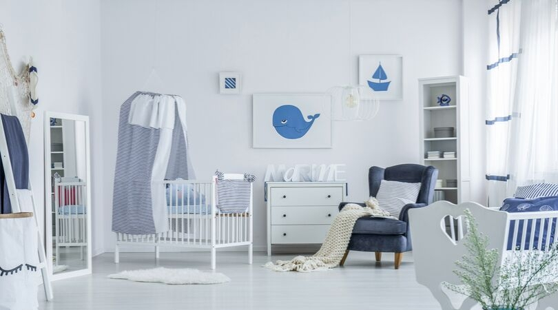 prep home for baby - crib changing table