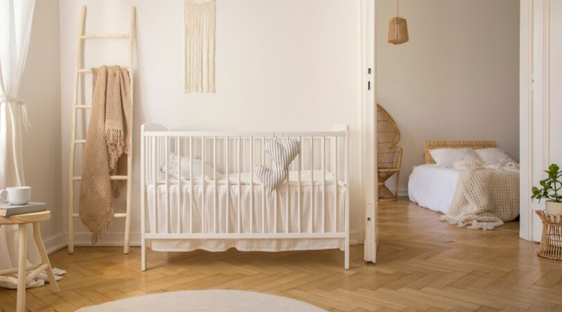 prep home for baby - crib - baby room