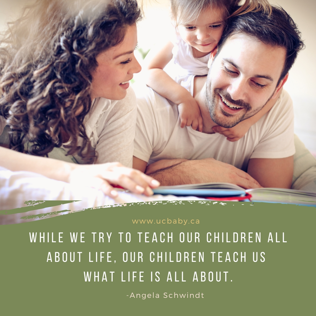 UC Baby Motherhood Quote 122019 - What Life is About