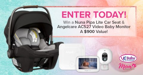 NUNA PIPA LITE CAR SEAT & ANGELCARE AC527 VIDEO BABY MONITOR
