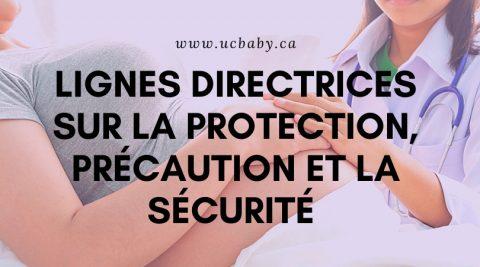 COVID-19 Lignes directrices sur la protection, précaution et la sécurité