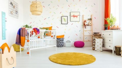 setting up the nursery for baby